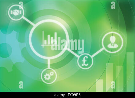 Illustrative image representing the concept of business development - Stock Image