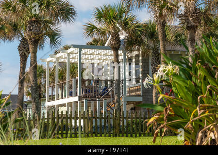 Oceanfront home in Neptune Beach, Florida. (USA) - Stock Image