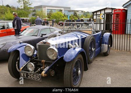 Invicta 4.5 S-Type (1934), British Marques Day, 28 April 2019, Brooklands Museum, Weybridge, Surrey, England, Great Britain, UK, Europe - Stock Image