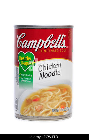 Campbell's Chicken noodle condensed soup - Stock Image