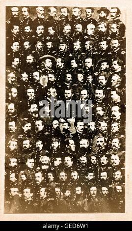 100 Union Civil War Generals, ca 1864 - Stock Image