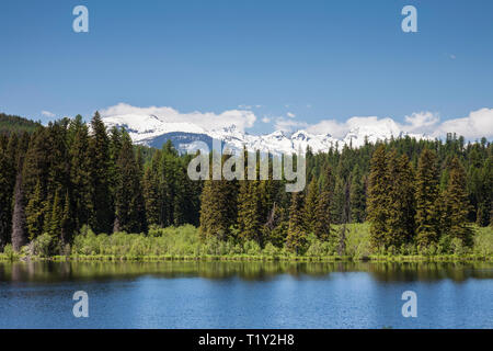 Swan Mountain Range, Rockies, MT - Stock Image