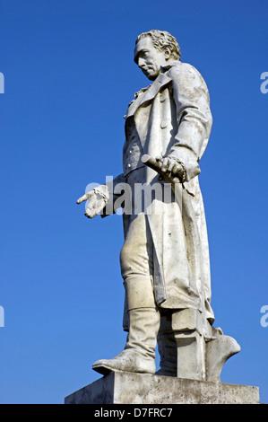 Germany, Niedersachsen, Celle, Thaerplatz, Denkmal Albrecht Thaer, Albrecht Daniel Thaer - Stock Image