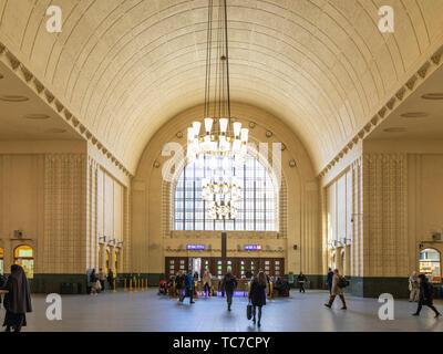 Interior of Entrance Hall, Helsinki Central Station - Stock Image
