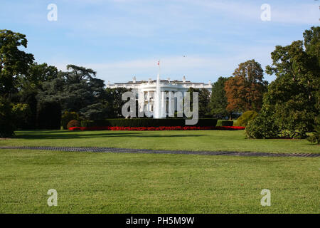 WASHINGTON, DC - AUGUST 29: Kremlin Annex is a nick-name commonly associated with The White House since its occupation by the 45th President of The Un - Stock Image