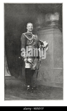 1905 Kaiser Wilhelm II - Stock Image