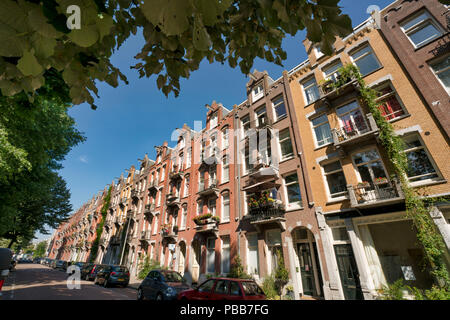 Typical Dutch Amsterdam houses - Stock Image
