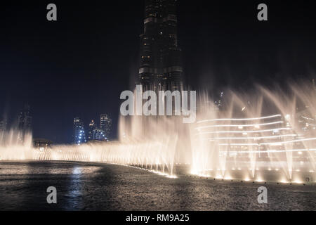 Musical Fountain in Dubai, United Arab Emirates. - Stock Image