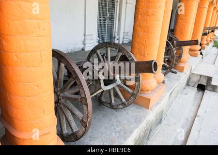 Cannon on the veranda of Chitral Fort. - Stock Image