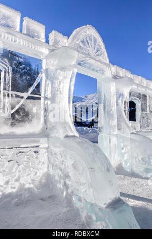 The Lake Louise Ice Magic Festival in Banff National Park, Alberta Canada - Stock Image