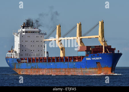 General cargo vessel BBC Weser - Stock Image