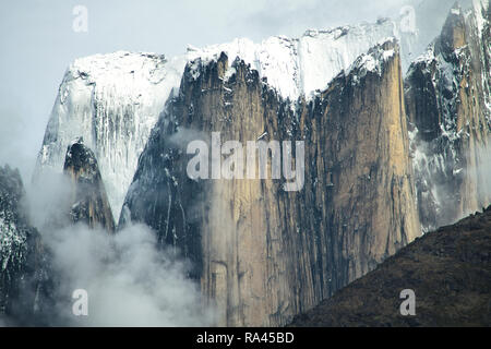 Sharp Peaks of South Greenland - Stock Image