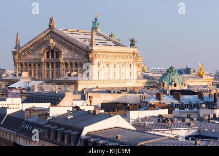 Opera Garnier and Paris roofs - Stock Image