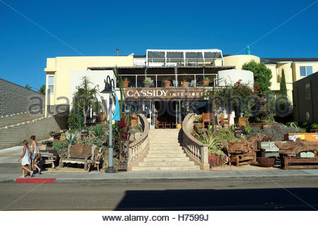 Cedros Avenue - design district, home interior shop in Solana Beach (San Diego County), California, USA. - Stock Image