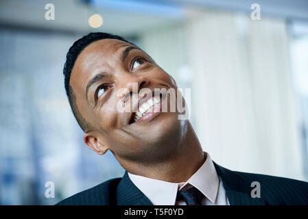 Close-up of businessman in office - Stock Image