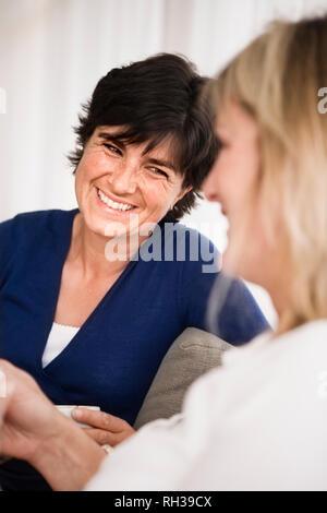 Women talking - Stock Image