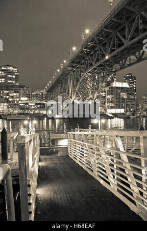 City Bridges in Vancouver, BC Canada - Stock Image