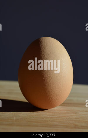 an egg, isolated with copy space - Stock Image