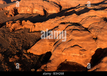 Scenic landscape of rock formations in Canyonlands Canyonlands National Park Utah United States - Stock Image