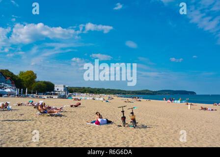 Beach, Sopot, Poland - Stock Image