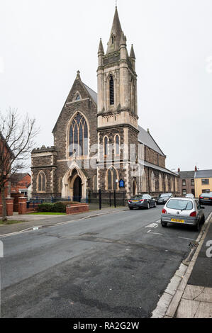 Pilgwenlly, Newport, South Wales, UK. St Michael's Church (R.C.) was completed in 1887 - Stock Image