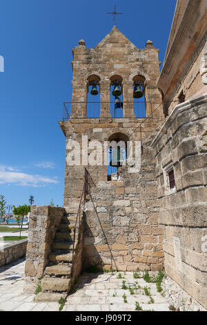 Zakynthos the church of Agios Nikolaos at Solomou Square - Stock Image