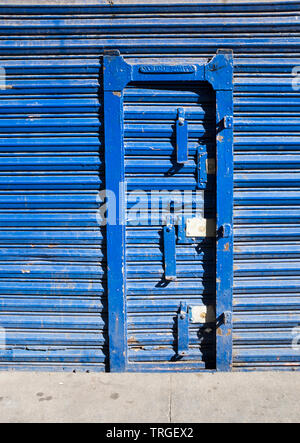 Shop Front Shutters and Door Mexico City - Stock Image