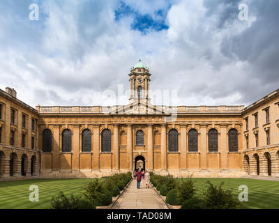 Queen's College Front Quad, Oxford University, UK - Stock Image