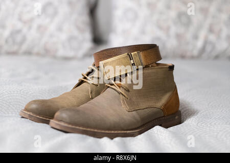 Fashion Style Clothing for a Man on His Wedding Day - Stock Image