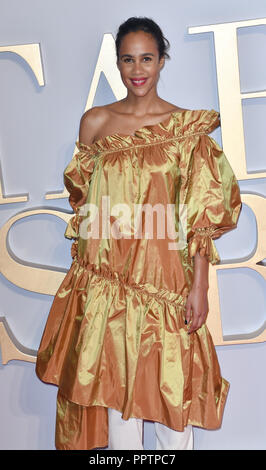 London, UK. 27th September 2018. Zawe Ashton attend A Star Is Born UK Premiere at Vue Cinemas, Leicester Square, London, UK 27 September 2018. Credit: Picture Capital/Alamy Live News - Stock Image