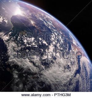 The River Amazon and the Amazon Basin from space - Stock Image