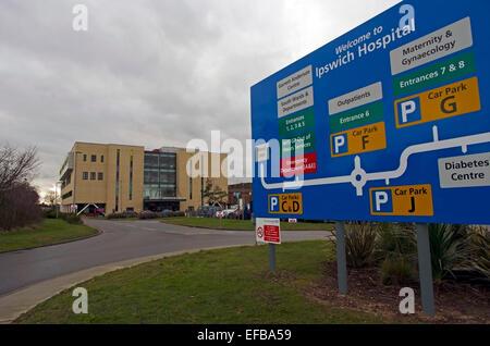 Ipswich Hospital Suffolk - Stock Image