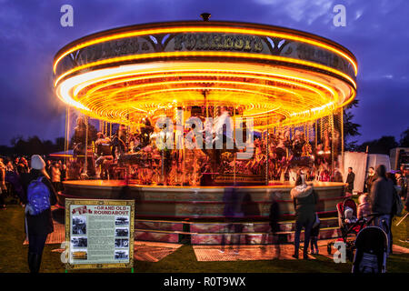 Carousel roundabout, or merry go round at a fun fair. - Stock Image