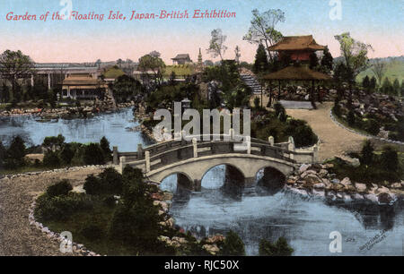 Garden of the Floating Isle - The Japan-British Exhibition of 1910 took place at White City, London in Great Britain from 14 May 1910 to 29 October 1910. - Stock Image