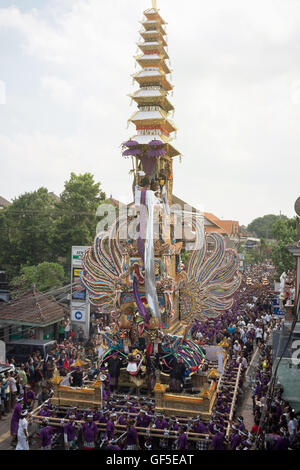 Cremation Ceremony in Ubud-Bali - Stock Image