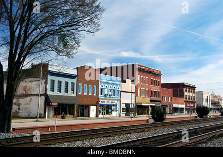 Downtown Rocky Mount, North Carolina - Stock Image