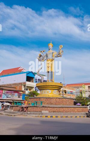 Preah Noreay Circle, Battambang, Cambodia, Asia - Stock Image