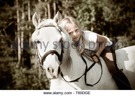i love my pony about everything - Stock Image