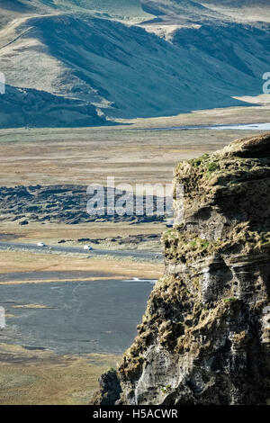 Valley with rock in foreground - Stock Image