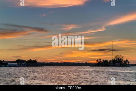 Santa Barbara Island on Lake Peten Itza, Guatemala - Stock Image