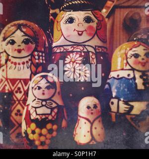 Babushka Russian dolls - Stock Image