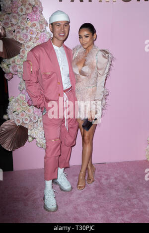 Los Angeles, USA. 30th Jan, 2019. Patrick Ta and Shay Mitchell attend the launch of Patrick Ta's Beauty Collection at Goya Studios on April 04, 2019 in Los Angeles, California. Credit: The Photo Access/Alamy Live News - Stock Image