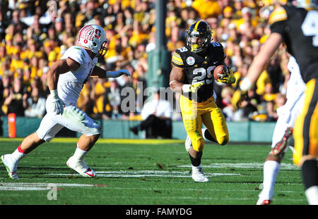 Pasadena, CA. 01st Jan, 2016. of Iowa in action during the 2016 Rose Bowl game between the Stanford Cardinal and - Stock Image