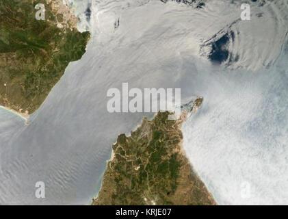 InternalWaves Gibraltar ISS009-E-09952 54. - Stock Image