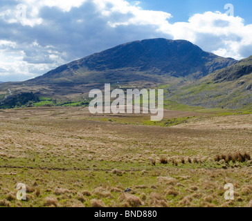 Lonesome Road #38. mountain landscape with distant roads - Stock Image