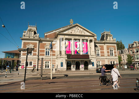 The Concert Building at the Museum square, Amsterdam, The Netherlands - Stock Image