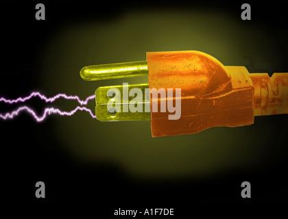 power plug - Stock Image