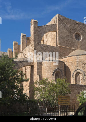 Former Church of Sts. Peter and Paul now named Sinan Paşa Mosque in Famagusta Cyprus, used for concerts and events - Stock Image
