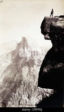 Glacier Point and Half Dome, Yosemite, ca 1880, by George Fiske - Stock Image