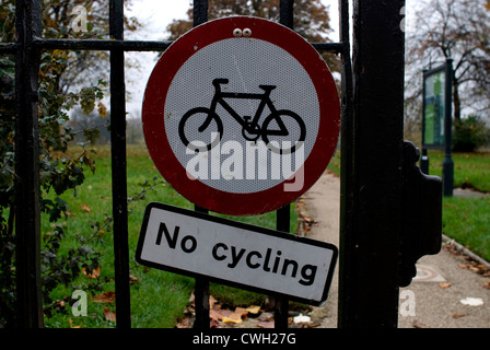 No Cycling Sign - Stock Image